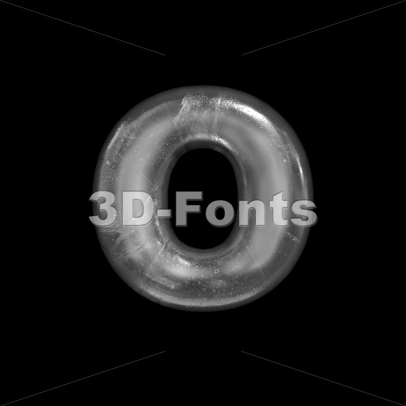 frost font O - Small 3d letter - 3D Fonts Collections | Top Quality Letters, Numbers and Symbols !