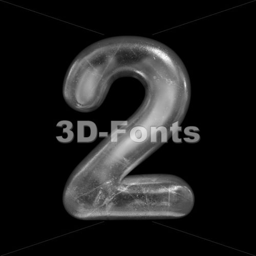 ice digit 2 - 3d number - 3D Fonts Collections | Top Quality Letters, Numbers and Symbols !