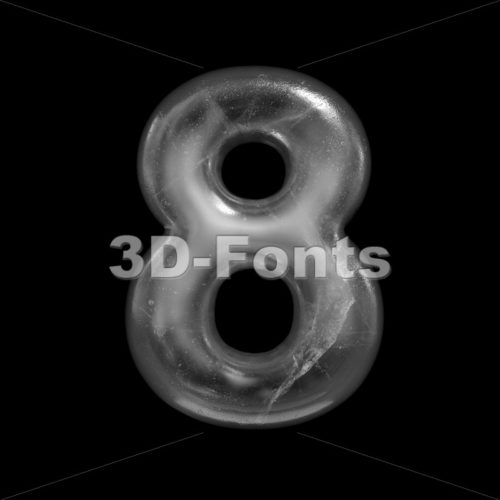 ice digit 8 - 3d number - 3D Fonts Collections | Top Quality Letters, Numbers and Symbols !