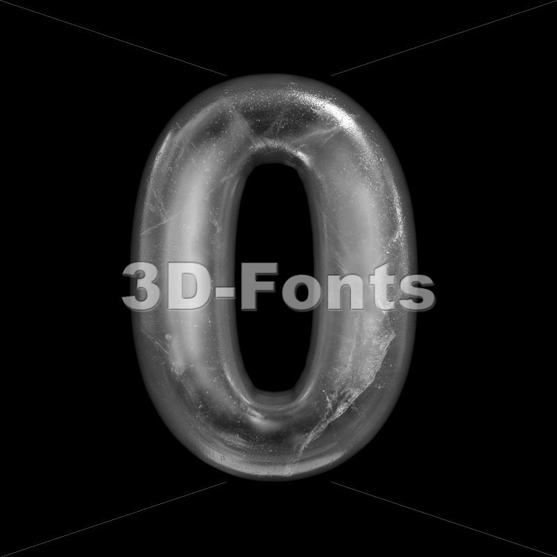 ice number 0 - 3d digit - 3D Fonts Collections | Top Quality Letters, Numbers and Symbols !