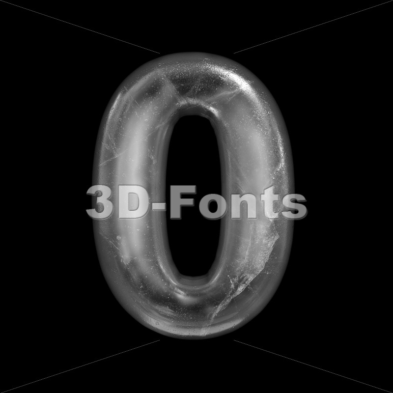 ice number 0 – 3d digit – 3D Fonts Collections | Top Quality Letters, Numbers and Symbols !