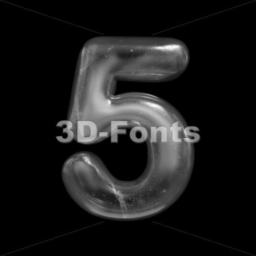 ice number 5 - 3d digit - 3D Fonts Collections | Top Quality Letters, Numbers and Symbols !