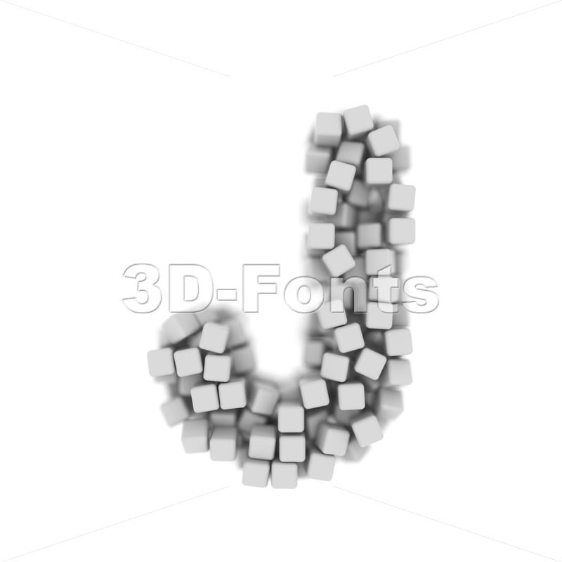 3d Uppercase font J made of 3d cubes - Capital 3d character - 3D Fonts Collections | Top Quality Letters, Numbers and Symbols !