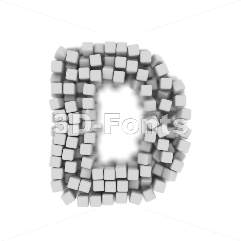 3d cube font D - Capital 3d character - 3D Fonts Collections | Top Quality Letters, Numbers and Symbols !