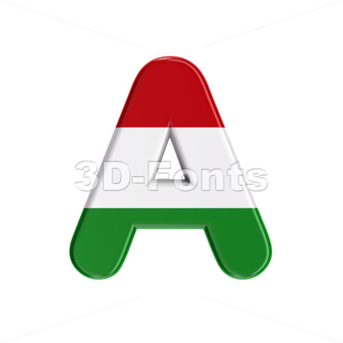 Hungarian letter A - Capital 3d character - 3D Fonts Collections | Top Quality Letters, Numbers and Symbols !