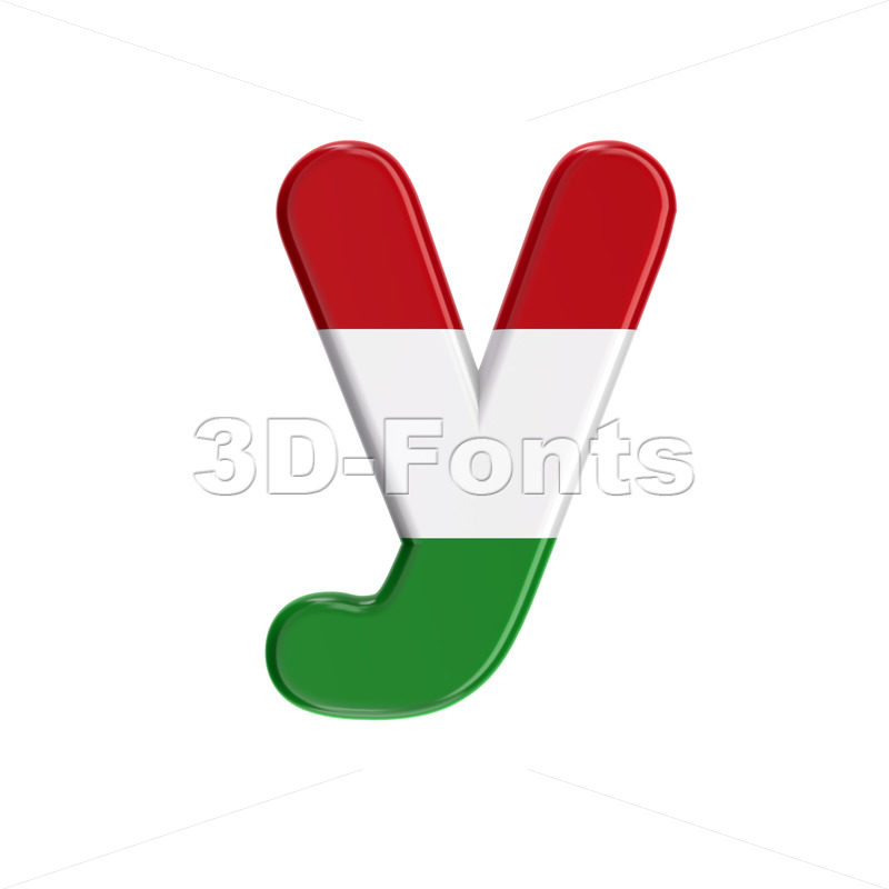 Lowercase hungarian character Y - Small 3d letter - 3D Fonts Collections | Top Quality Letters, Numbers and Symbols !