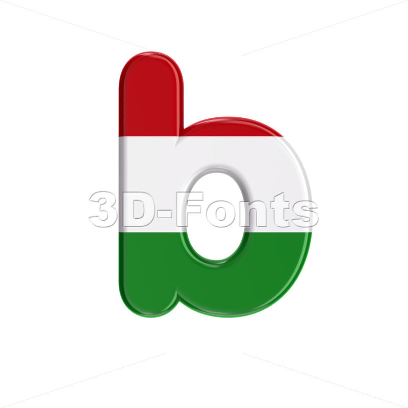 hungarian alphabet character B - Lower-case 3d letter - 3D Fonts Collections | Top Quality Letters, Numbers and Symbols !