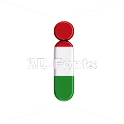hungarian alphabet letter I - Small 3d character - 3D Fonts Collections | Top Quality Letters, Numbers and Symbols !