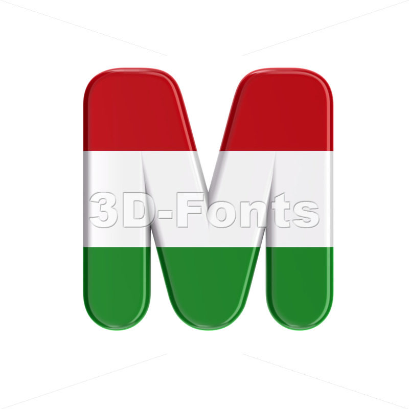 hungarian character M - Capital 3d letter - 3D Fonts Collections | Top Quality Letters, Numbers and Symbols !