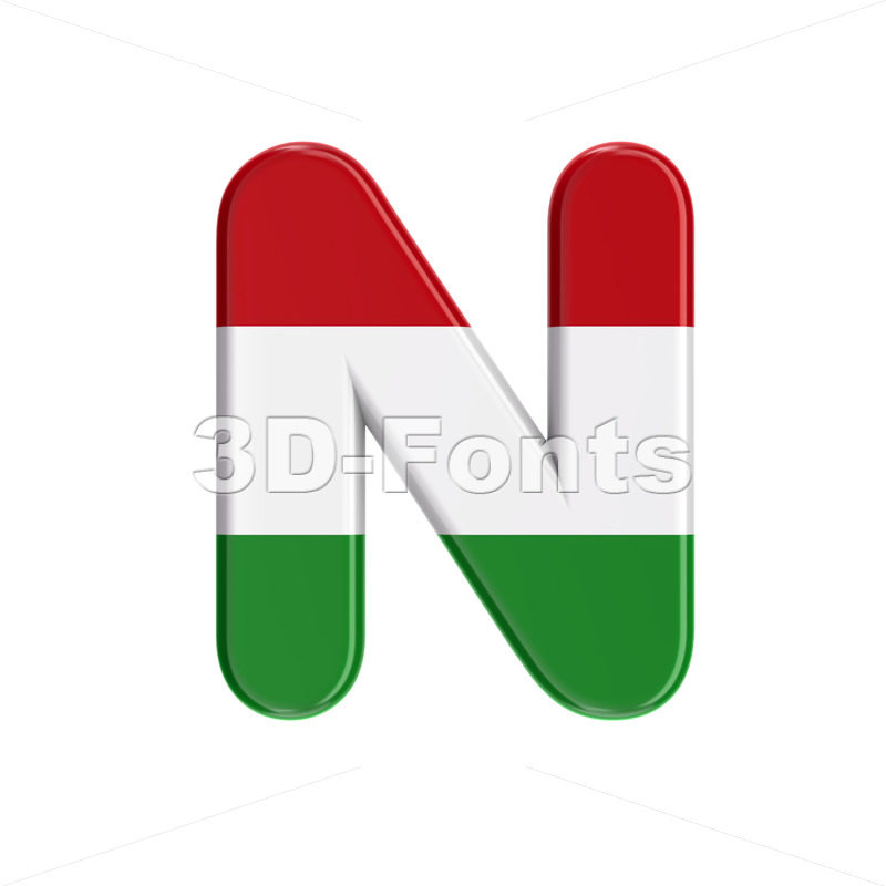 hungarian font N - Capital 3d letter - 3D Fonts Collections | Top Quality Letters, Numbers and Symbols !