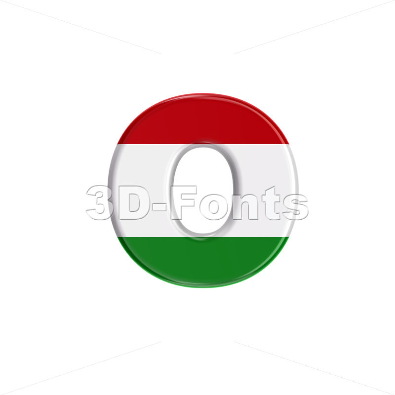 hungarian font O - Small 3d letter - 3D Fonts Collections | Top Quality Letters, Numbers and Symbols !