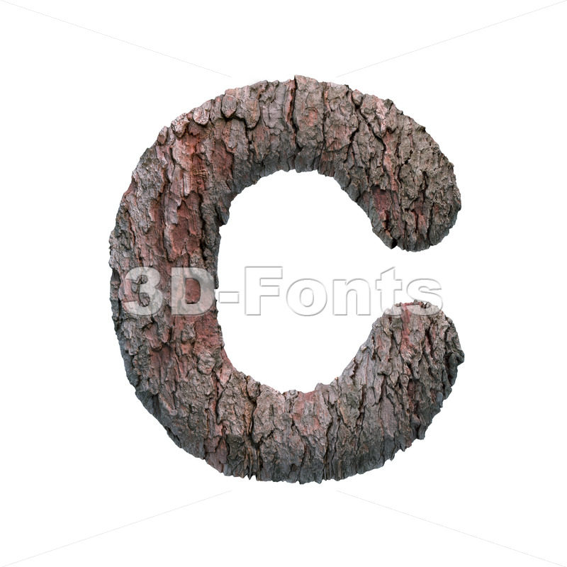 3d bark font C - Capital 3d letter - 3D Fonts Collections | Top Quality Letters, Numbers and Symbols !