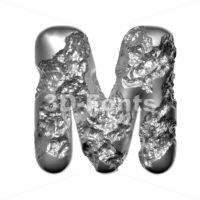 Steel character M - Capital 3d letter - 3D Fonts Collections | Top Quality Letters, Numbers and Symbols !