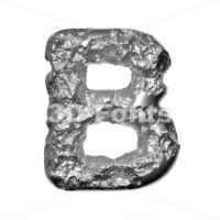 Steel font D - Capital 3d character - 3D Fonts Collections | Top Quality Letters, Numbers and Symbols !