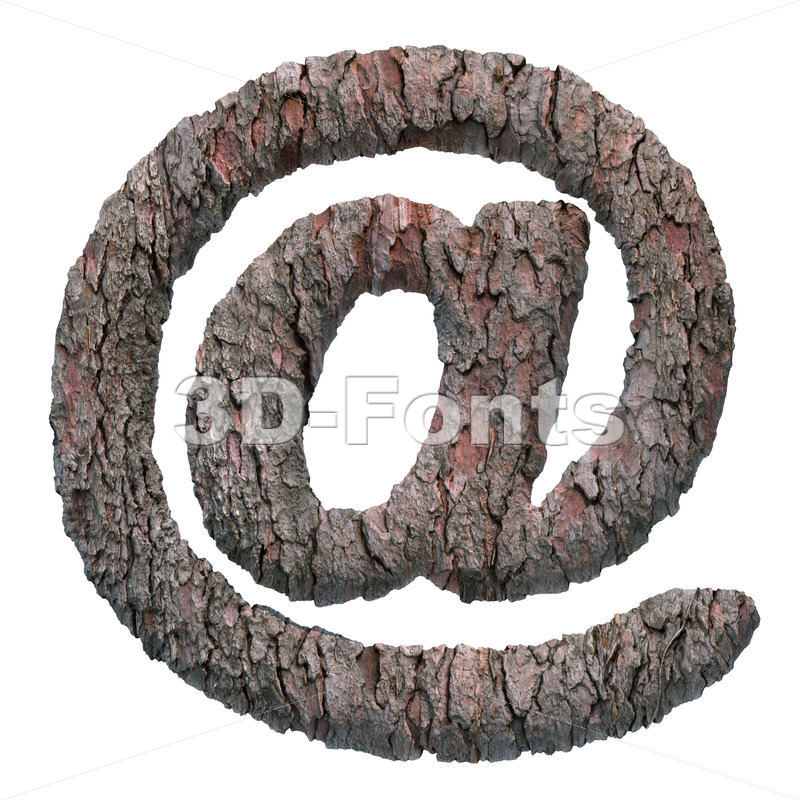 bark at sign - 3d Arobase symbol - 3D Fonts Collections | Top Quality Letters, Numbers and Symbols !