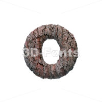 pine bark font O - Small 3d letter - 3D Fonts Collections | Top Quality Letters, Numbers and Symbols !
