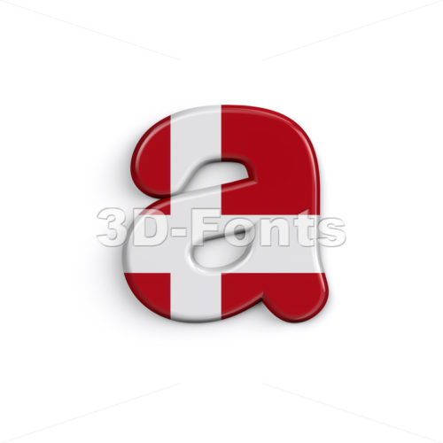 Denmark font A - Lowercase 3d letter - 3D Fonts Collections | Top Quality Letters, Numbers and Symbols !