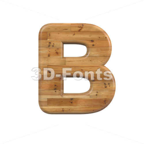 Capital parquet letter B - Uppercase 3d font - 3D Fonts Collections | Top Quality Letters, Numbers and Symbols !