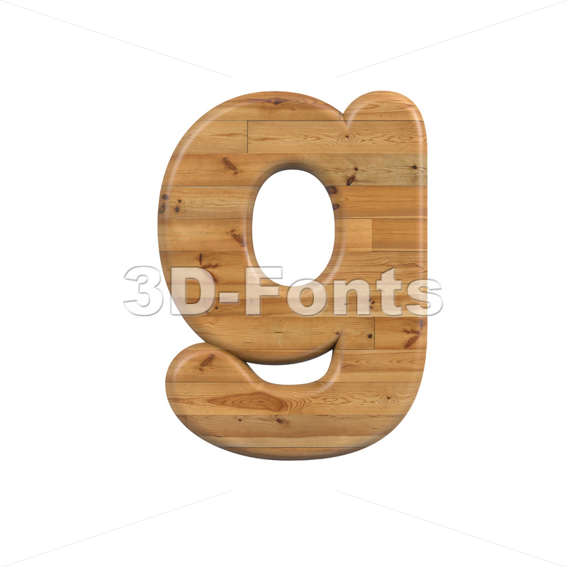 Lowercase Wood font G - Small 3d character - 3D Fonts Collections | Top Quality Letters, Numbers and Symbols !