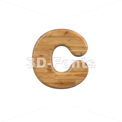 Small Wood font C - Lowercase 3d character - 3D Fonts Collections | Top Quality Letters, Numbers and Symbols !
