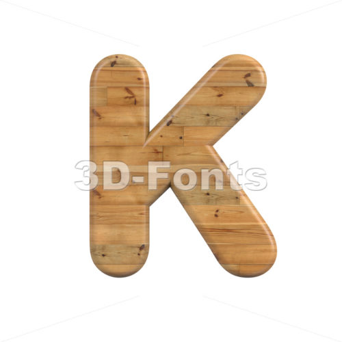 Uppercase Wood letter K - Capital 3d font - 3D Fonts Collections | Top Quality Letters, Numbers and Symbols !