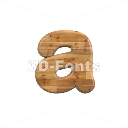 Wood font A - Lowercase 3d letter - 3D Fonts Collections | Top Quality Letters, Numbers and Symbols !