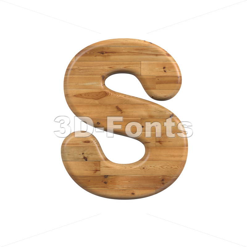 Wood font S - Uppercase 3d letter - 3D Fonts Collections | Top Quality Letters, Numbers and Symbols !