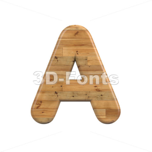 Wood letter A - Capital 3d character - 3D Fonts Collections | Top Quality Letters, Numbers and Symbols !