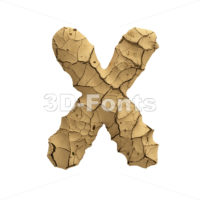 clay character X - Upper-case 3d letter - 3D Fonts Collections | Top Quality Letters, Numbers and Symbols !