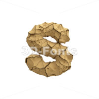 dry ground letter S - Lowercase 3d font - 3D Fonts Collections | Top Quality Letters, Numbers and Symbols !