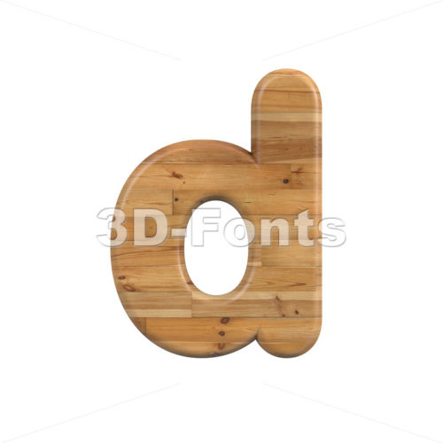 pine alphabet letter D - Lowercase 3d font - 3D Fonts Collections | Top Quality Letters, Numbers and Symbols !