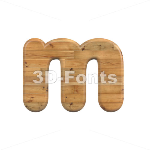 plank 3d font M - Lowercase 3d letter - 3D Fonts Collections | Top Quality Letters, Numbers and Symbols !