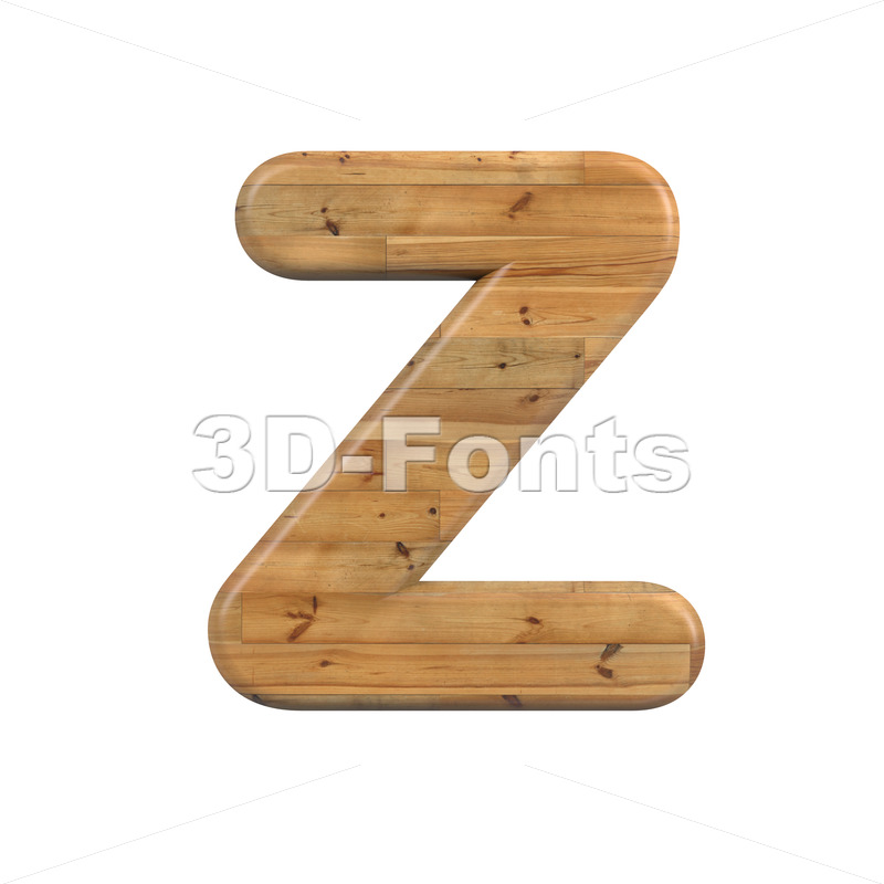plank alphabet letter Z - Upper-case 3d font - 3D Fonts Collections | Top Quality Letters, Numbers and Symbols !