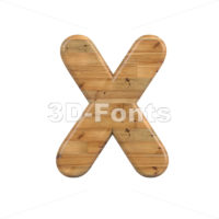 plank character X - Upper-case 3d letter - 3D Fonts Collections   Top Quality Letters, Numbers and Symbols !