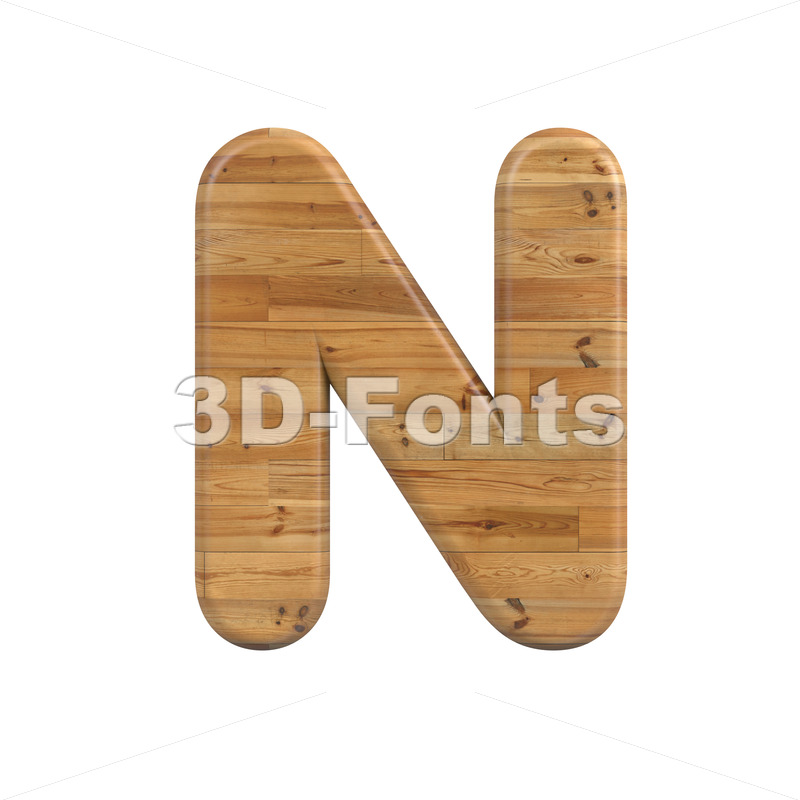 plank font N - Capital 3d letter - 3D Fonts Collections | Top Quality Letters, Numbers and Symbols !