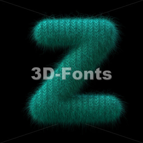 Wool knit alphabet letter Z - Upper-case 3d font - 3D Fonts Collections | Top Quality Letters, Numbers and Symbols !