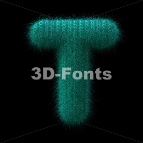 knit character T – Uppercase 3d letter – 3D Fonts Collections | Top Quality Letters, Numbers and Symbols !