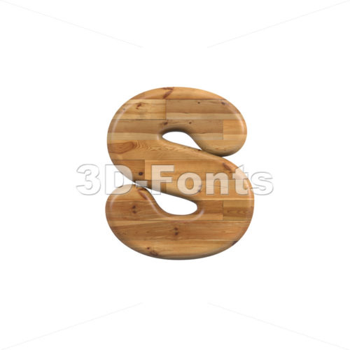 parquet letter S – Lowercase 3d font – 3D Fonts Collections   Top Quality Letters, Numbers and Symbols !