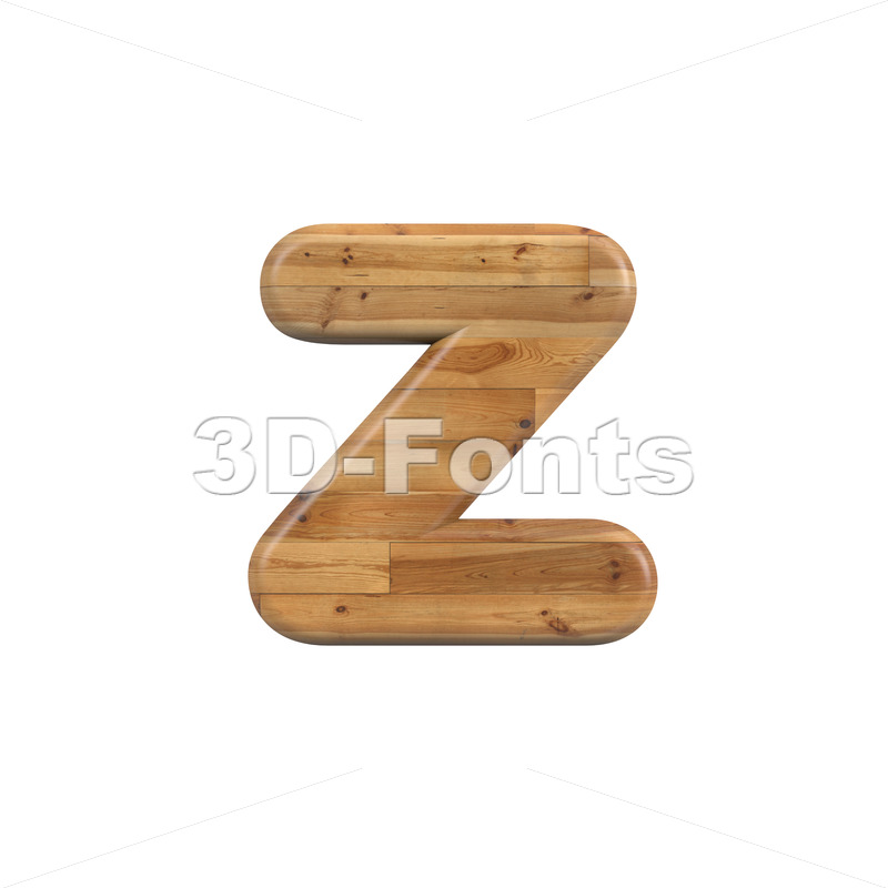 plank 3d character Z - Lower-case 3d font - 3D Fonts Collections | Top Quality Letters, Numbers and Symbols !