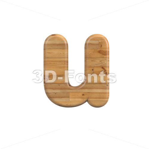 plank alphabet character U – Small 3d letter – 3D Fonts Collections   Top Quality Letters, Numbers and Symbols !
