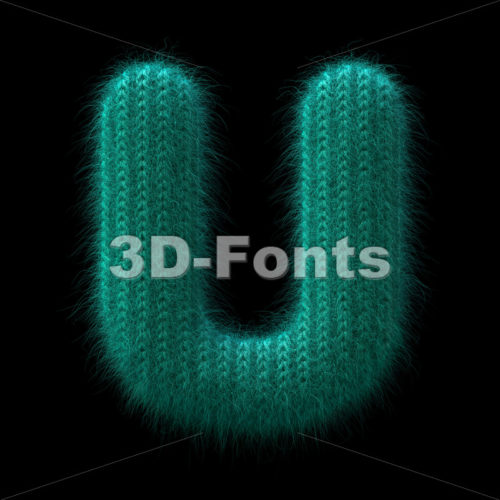 wool letter U - Capital 3d font - 3D Fonts Collections | Top Quality Letters, Numbers and Symbols !