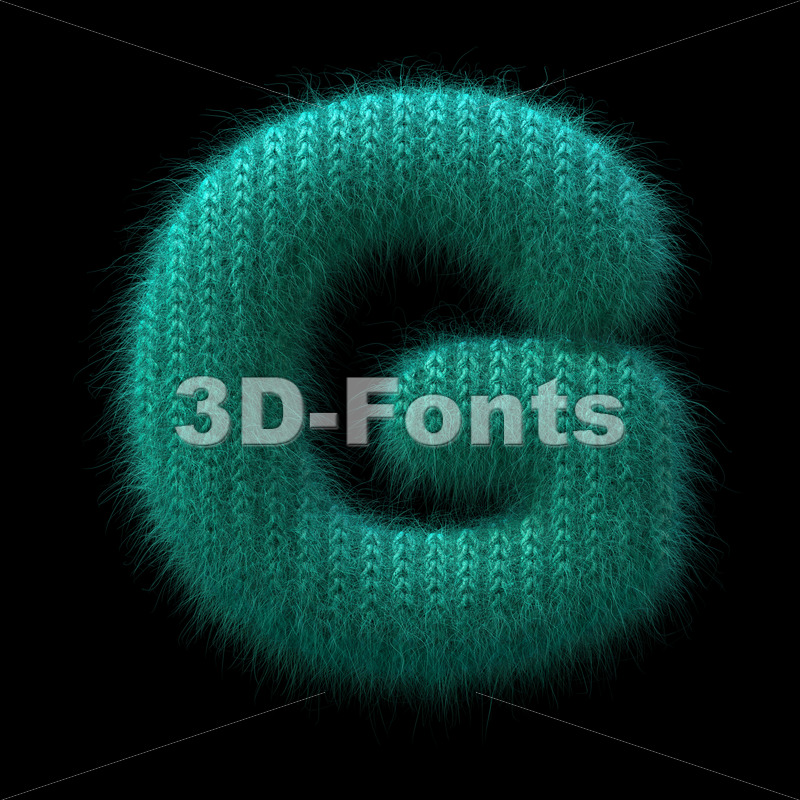 Uppercase wool character G - Capital 3d font - 3D Fonts Collections | Top Quality Letters, Numbers and Symbols !