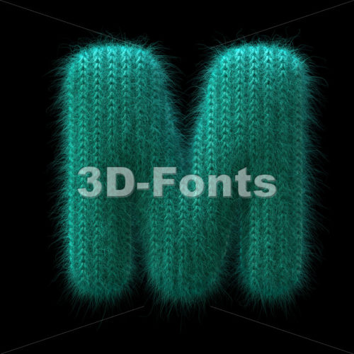Wool knit character M - Capital 3d letter - 3D Fonts Collections | Top Quality Letters, Numbers and Symbols !