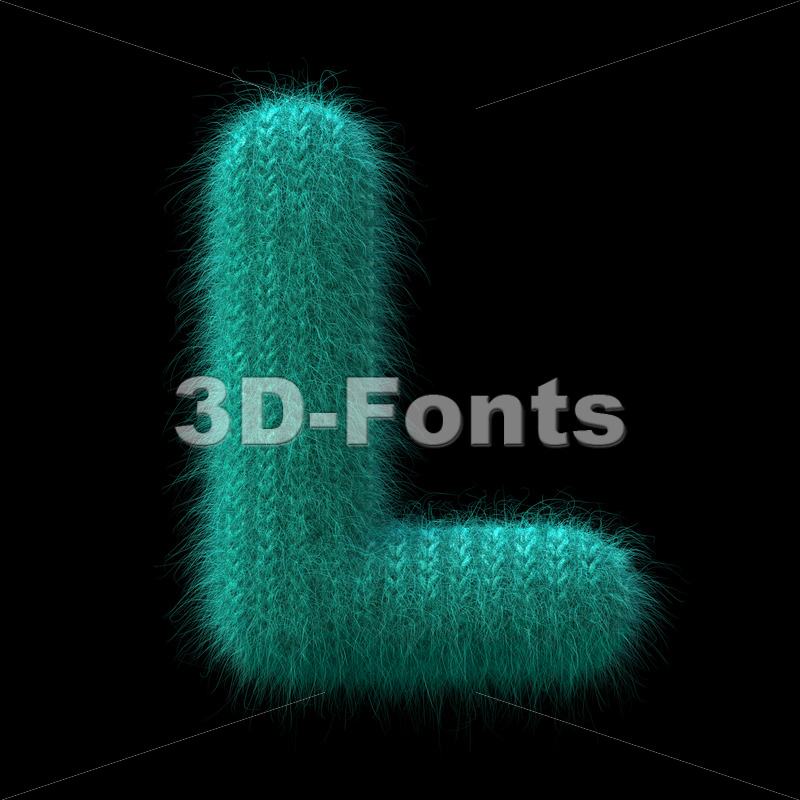 Wool knit font L – Capital 3d character – 3D Fonts Collections | Top Quality Letters, Numbers and Symbols !