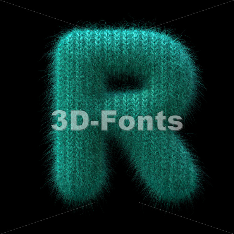 Wool knit letter R – Uppercase 3d font – 3D Fonts Collections | Top Quality Letters, Numbers and Symbols !