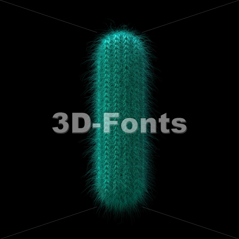 small knitted letter L - Lowercase 3d character - 3D Fonts Collections | Top Quality Letters, Numbers and Symbols !