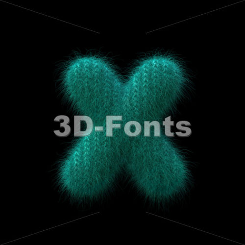 wool 3d font X - Small 3d letter - 3D Fonts Collections | Top Quality Letters, Numbers and Symbols !