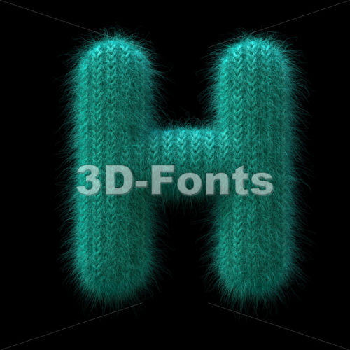 wool 3d letter H - Upper-case 3d character - 3D Fonts Collections | Top Quality Letters, Numbers and Symbols !