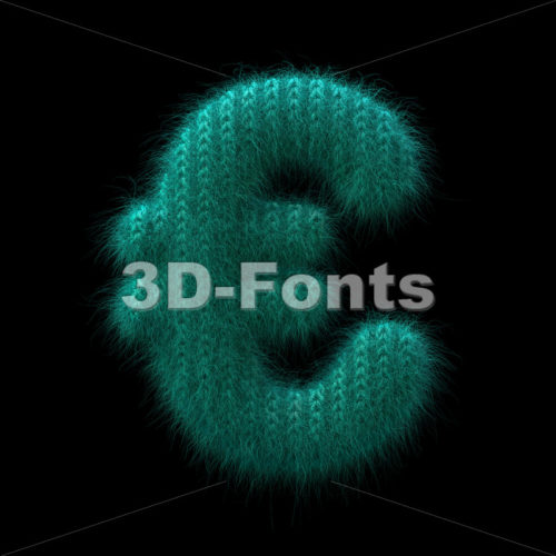 wool euro currency sign – 3d Business symbol – 3D Fonts Collections | Top Quality Letters, Numbers and Symbols !