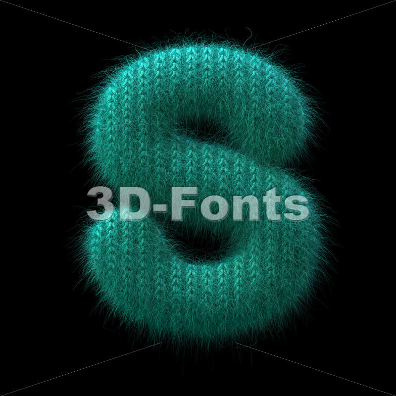 wool font S - Uppercase 3d letter - 3D Fonts Collections | Top Quality Letters, Numbers and Symbols !